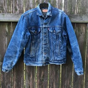 Vintage Levi's Flannel Orange Tag Denim Coat